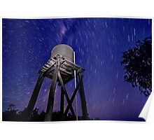 Tank and star trails Poster