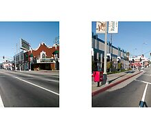 Sunset Boulevard + Virgil Avenue (II), Los Angeles, California, USA...narrowed. by David Yoon