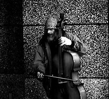 cello man by Dacey Barnes