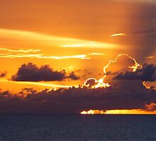 Caribbean Sunset by Rosemary Sobiera