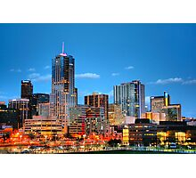 Downtown Denver at Dusk HDR Photographic Print