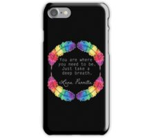 Lana Parrilla Quote (Light text) iPhone Case/Skin