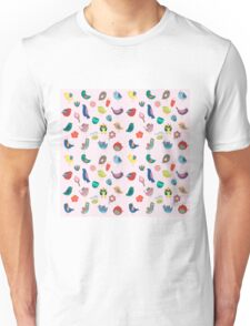Vintage Birds and Flowers Unisex T-Shirt