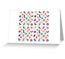 Vintage Birds and Flowers Greeting Card