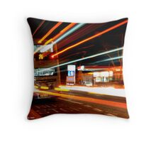 Rapid Bus Trails Throw Pillow