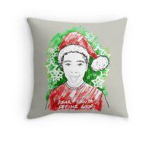 Young Santa Tee Throw Pillow