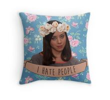 I Hate People - April Ludgate Throw Pillow