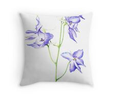 Delphinium Flowers Throw Pillow