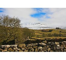 Pen-y-ghent after the snow Photographic Print