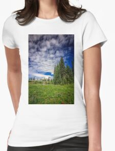 Mt Rainier, Washington Womens Fitted T-Shirt