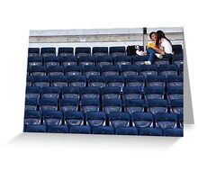Love in the Stadium Greeting Card