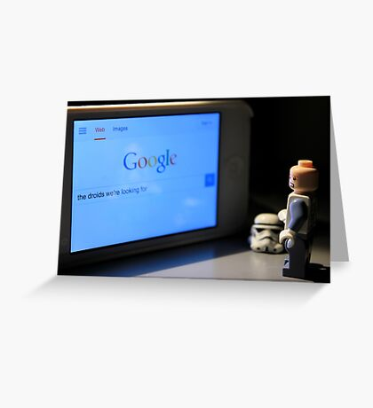 Droid Search Greeting Card