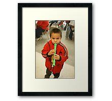 Little Flute Player Framed Print