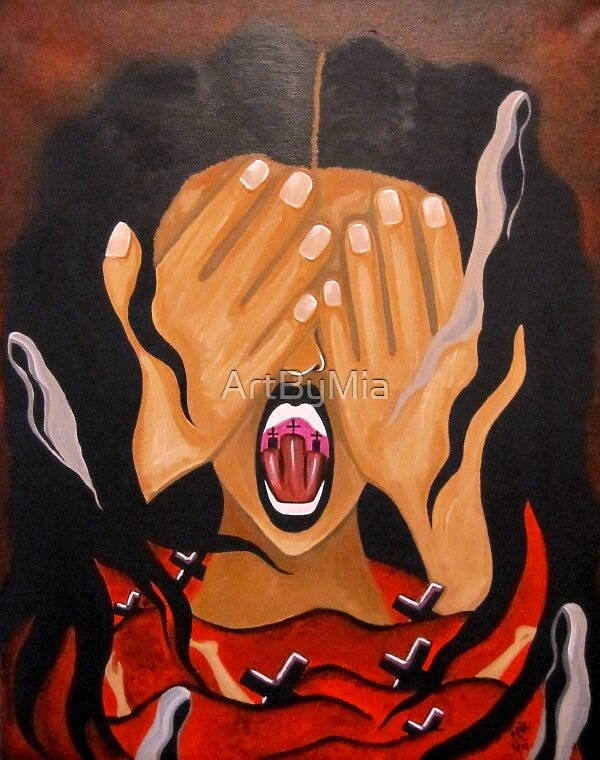 FEMICIDE ART - a Bloody Nightmare by ArtByMia