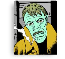 The Smoker (Redbubble Exclusive 'Ghostface' Variant) Canvas Print