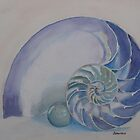 Nautilus with Marble by JennyArmitage