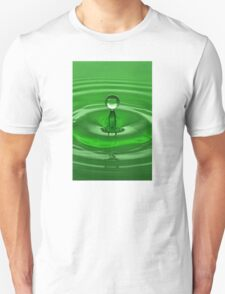 Green Water Drop Unisex T-Shirt