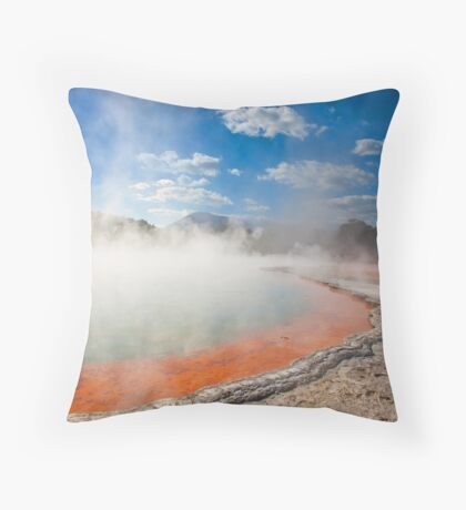 Wai-O-Tapu - Champagne Pool  Throw Pillow