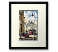 Prague Kaprova Street Framed Print