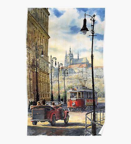 Prague Kaprova Street Poster