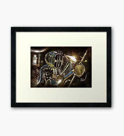 The Motor The Heart Framed Print