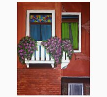 Colorful windows of Venice Acrylic Painting Womens Fitted T-Shirt