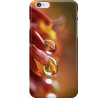 red-gold raindrops in tandem iPhone Case/Skin