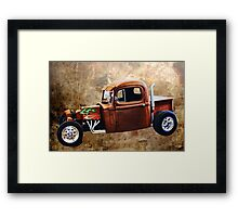 Rat Rod with Semi Cab Framed Print