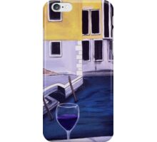 Yellow buildings canal wine glass art  iPhone Case/Skin