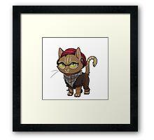 Hipster Kitty Framed Print