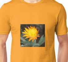 YELLOW PAPER DAISY BUD Unisex T-Shirt