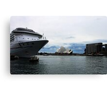 Opera House View and Ship - Circular Quay Canvas Print