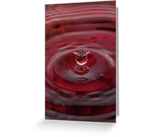 Red Water Drop Greeting Card