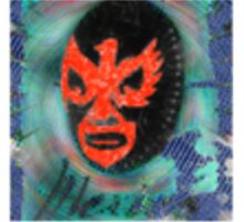 Blue Lucha Sticker