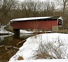Mercer's Ford Covered Bridge by Monte Morton