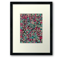 Busy dots Framed Print