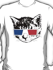 Cat in 3D (Gold) T-Shirt