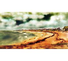 Elie Shorefront [Digital Landscape and Architecture Illustration] Scottish Seaside Towns 2 by Grant Wilson