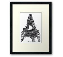 Eiffel Tower, Paris, France. Framed Print