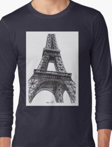 Eiffel Tower, Paris, France. Long Sleeve T-Shirt