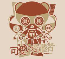 Teddy Mascot Stencil by KawaiiPunk
