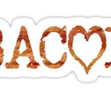 Bacon Love Strips Sticker