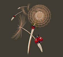 DANDELION and Hitchhicking ladybugs Womens Fitted T-Shirt