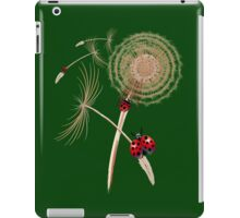 DANDELION and Hitchhicking ladybugs iPad Case/Skin