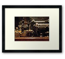 Steam Punk - DIY Typewriter Framed Print