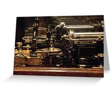Steam Punk - DIY Typewriter Greeting Card
