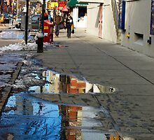 Reflection in the Sidewalk by JessicaHaley