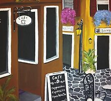 Outdoor cafe Acrylic Painting by Melissa Goza