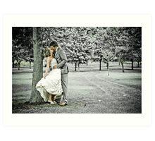 Jess & Sam's Wedding Day Art Print