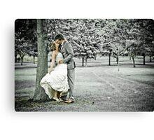 Jess & Sam's Wedding Day Canvas Print